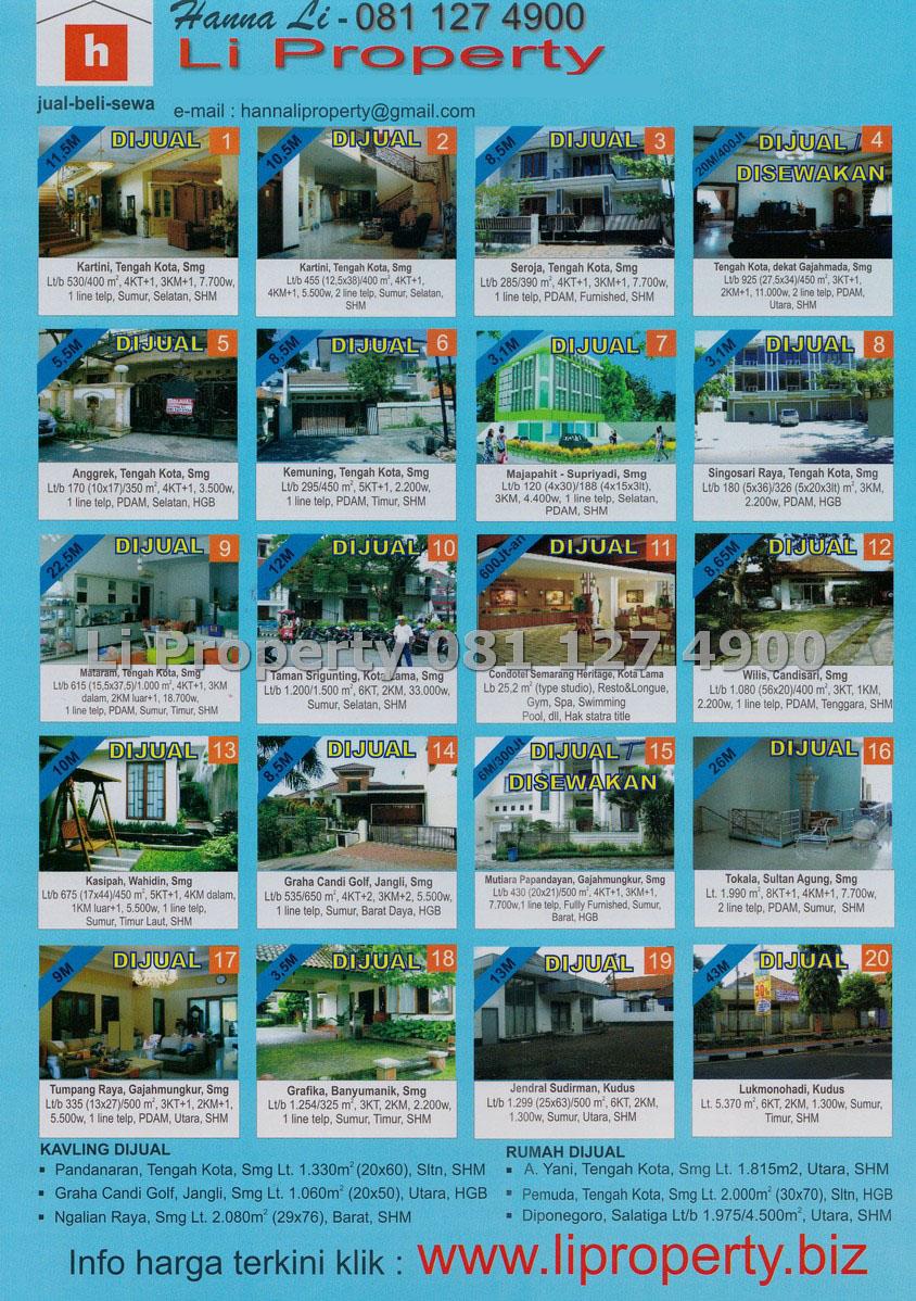dijual-disewakan-rumah-ruko-tanah-kavling-semarang-timur-barat-selatan-utara-tengah-liproperty-hanna-li-rumah123-tokobagus